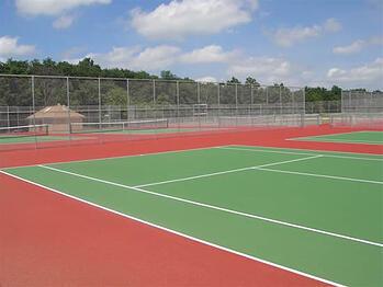 Game Set Match Asphalt Pavement For Tennis Courts Nets A