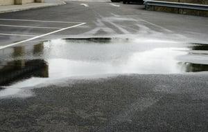water on asphalt