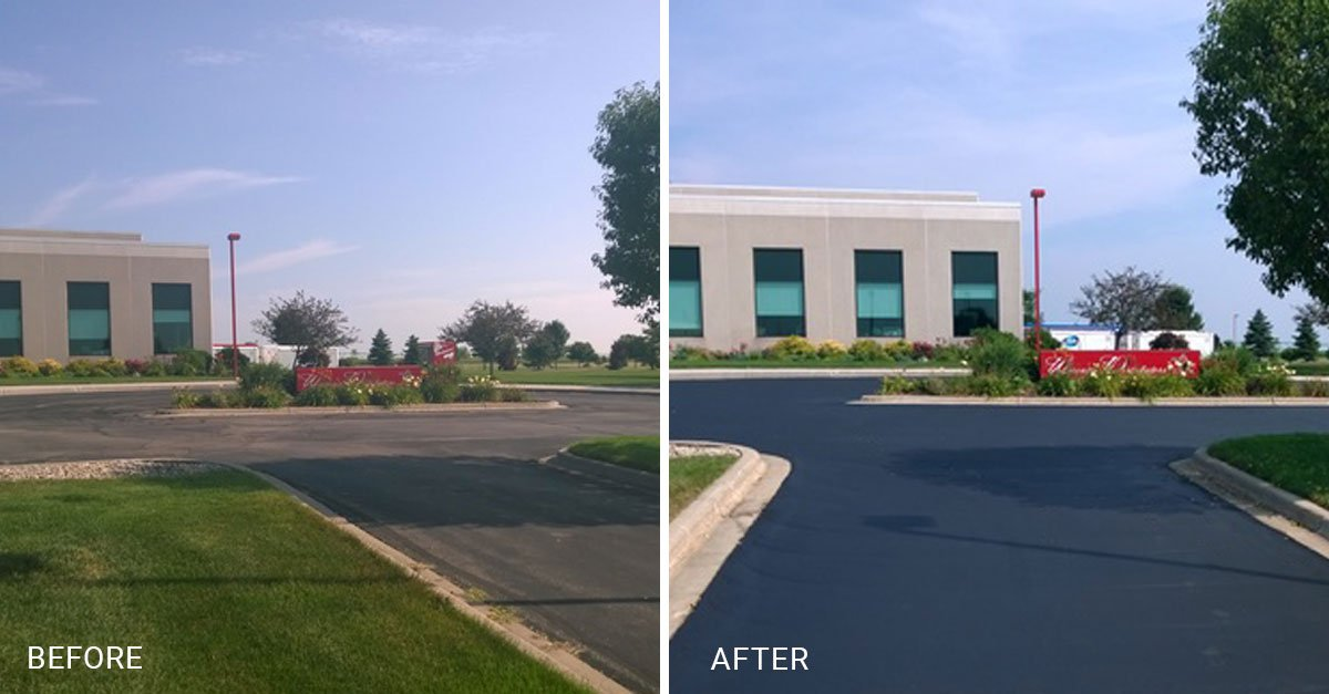 parking lot repair before and after