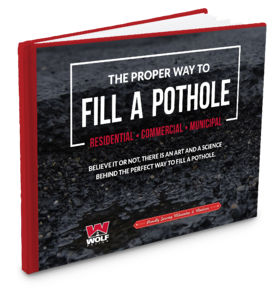 how to fill a pothole