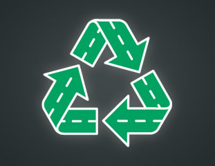 recycling asphalt